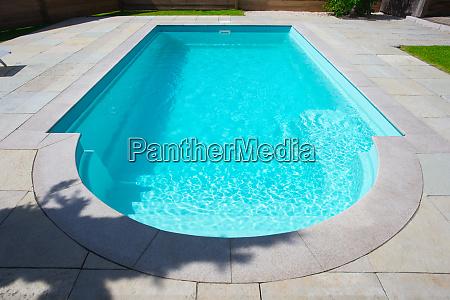 closeup of a classic private swimmingpool