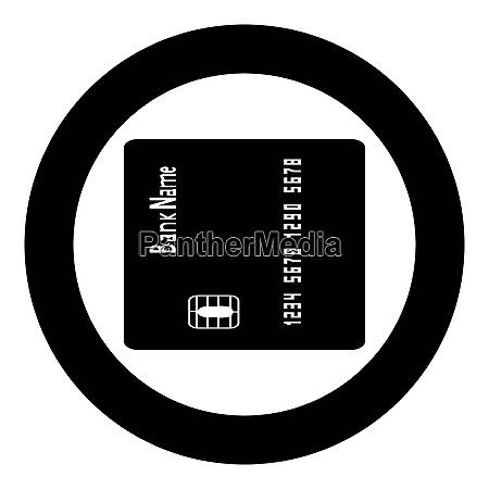 inserting credit card icon black