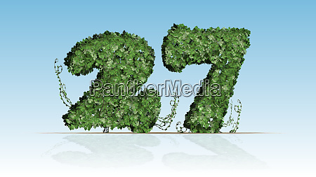 number 27 created of green ivy