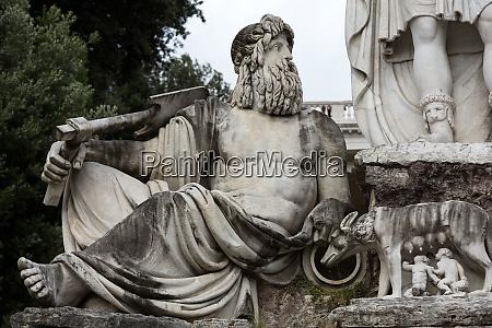 rome italy pincio fountain at