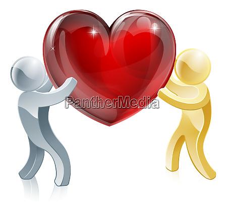 passing love heart