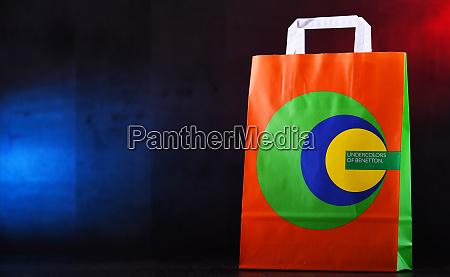 paper shopping bag of benetton
