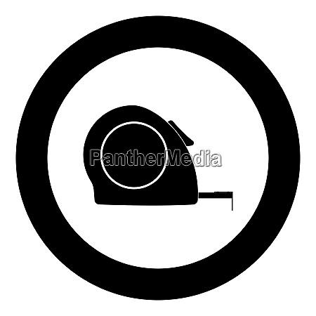 tape measure icon black color in