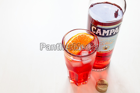 glass with cocktail cap and