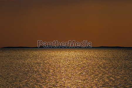 evening atmosphere near zadar