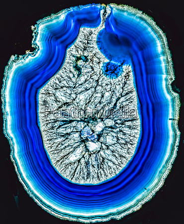 blue agate cross section