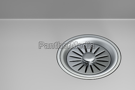 sink strainer with stopper on gray