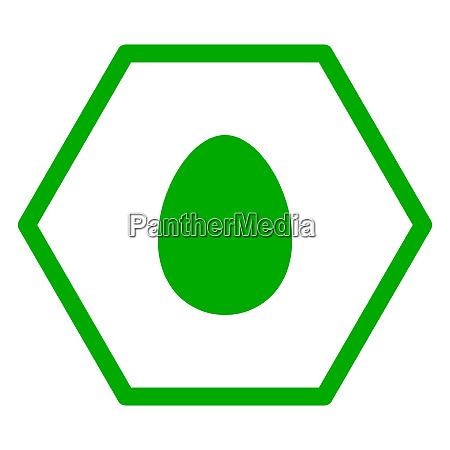egg and hexagon