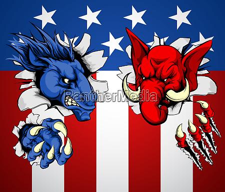 politics republican democrat concept