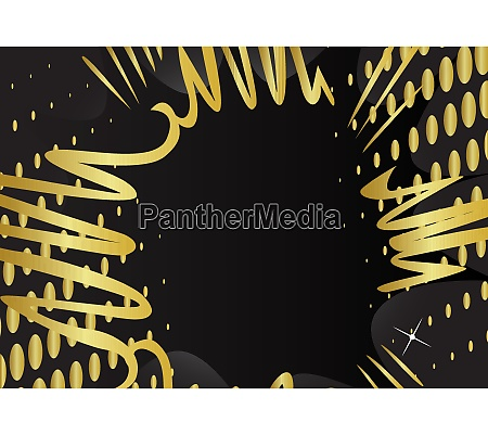 cartoon design gold colored background