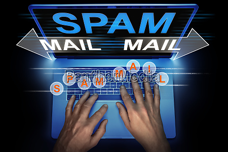 hacker spreads spam mail from his
