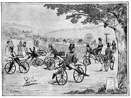 bicycle school 1811 illustration of the