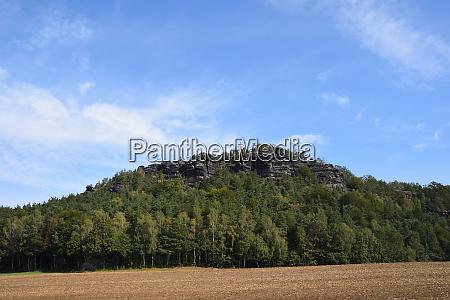 view to papststein in saxon switzerland