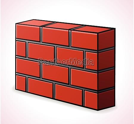 vector illustration of brickwall design