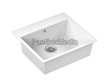 white composite sink