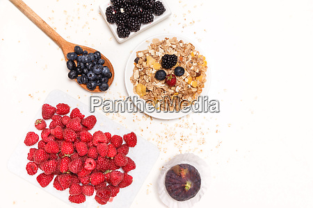 healthy breakfast food cereal concept with