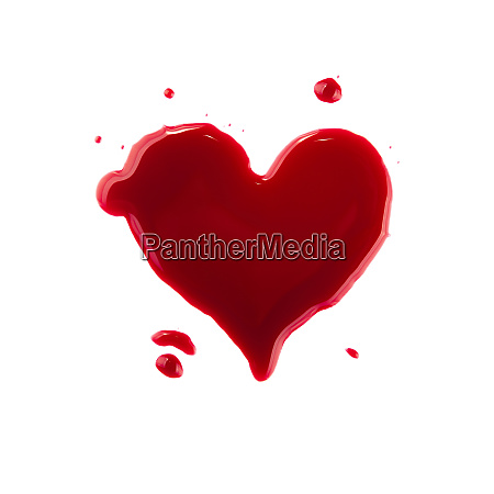heart shaped red wine stain over