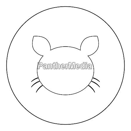 cat head icon black color