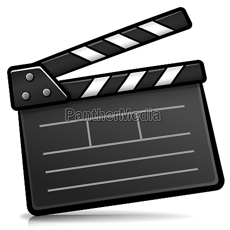 vector cinema clapperboard cartoon isolated