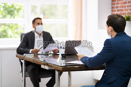 job interview business meeting at law