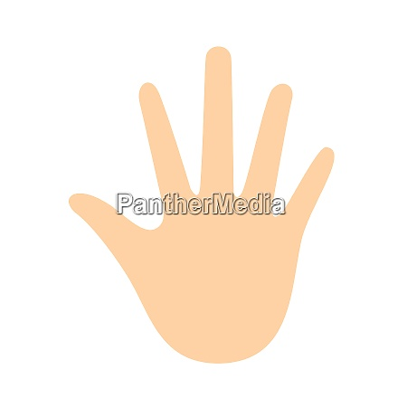 hand clip art isolated on white