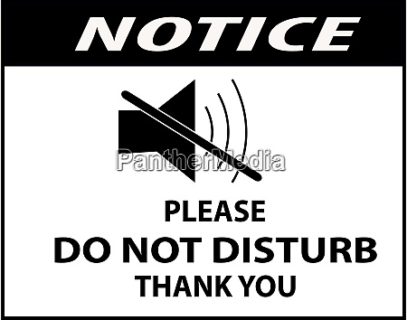 do not disturb board sign or