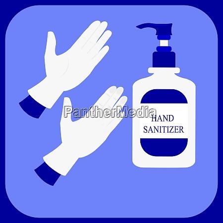 hand sanitizer bottle illustration vector symbol