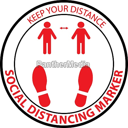 stand here social distancing marker pictogram