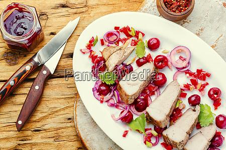 pork with cherry sauce