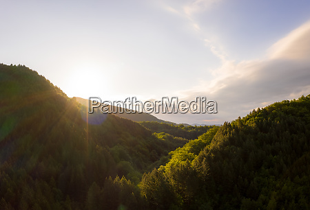 aerial view of first morning light