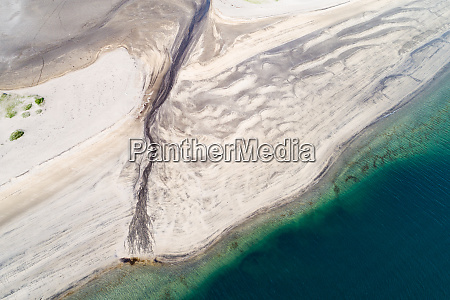 abstract aerial view of a stream