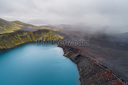 aerial view of crater lake blahylur