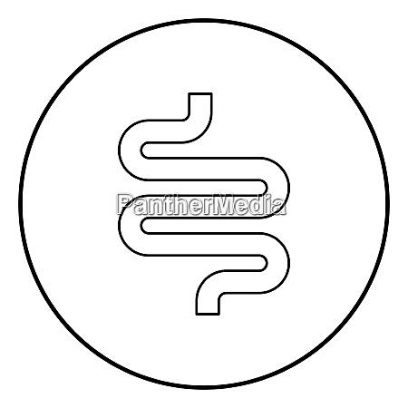 intestine or bowels icon black color