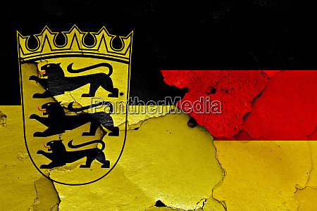 flags of baden wurttemberg and germany