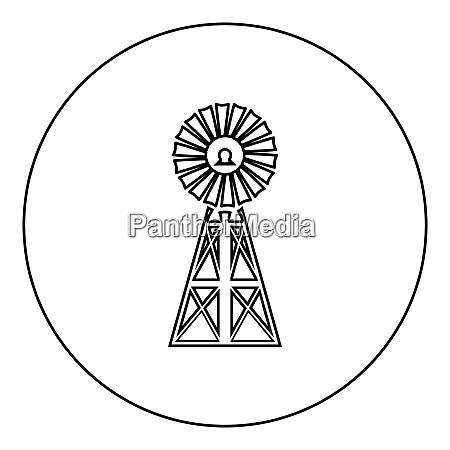 wind turbine windmill classic american icon
