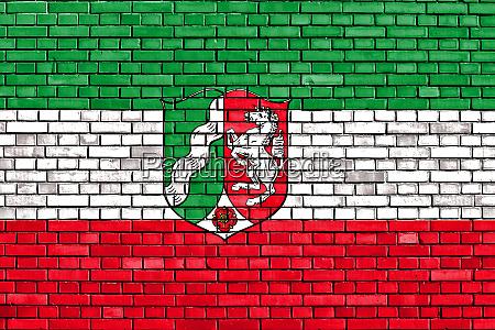flag of north rhine westphalia painted