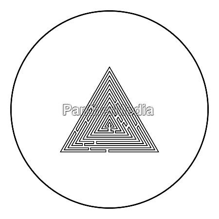 triangular labyrinth maze conundrum labyrinth conundrum