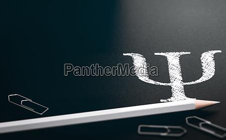 greek alphabet psi letter symbol of