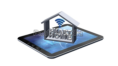smart home concept isolated on