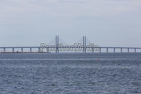 view on oresund bridge from the