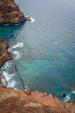 cliffs and ocean aerial view in