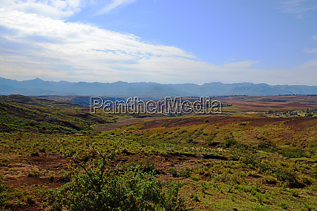 impressions of the landscape in lesotho