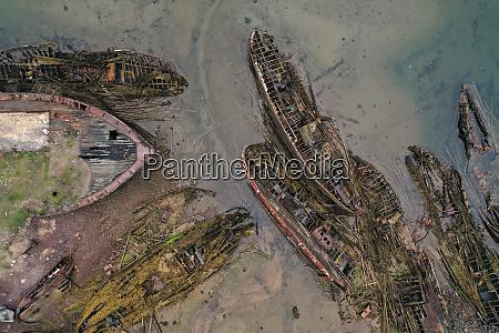 ship graveyard in teriberka kola peninsula