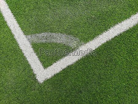 a corner arc marking on green