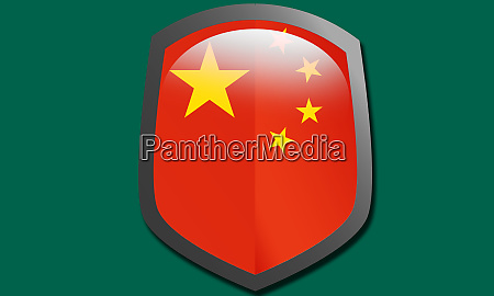 chinese country flag shield icon