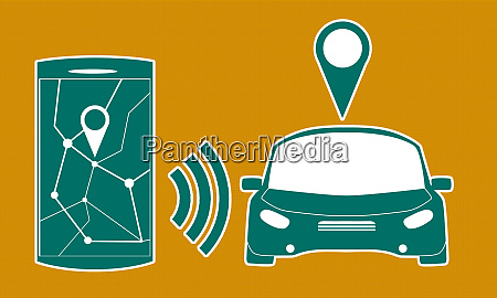 connected car sharing service controlled via