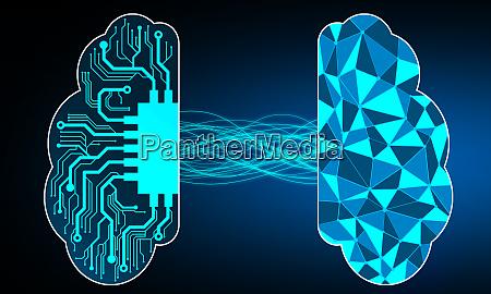 human brain versus cyber brain