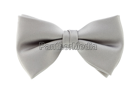 silver grey bow tie isolated on