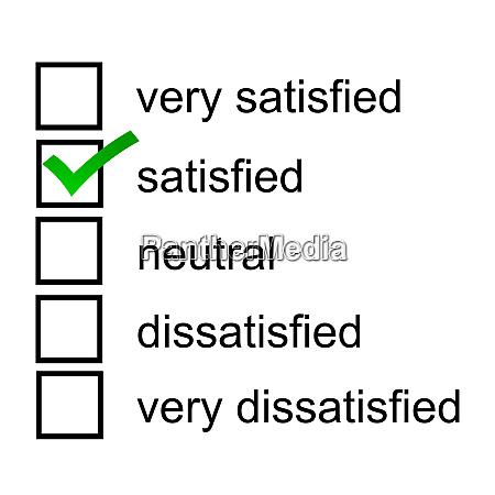 satisfied client response opinion questionnaire survey