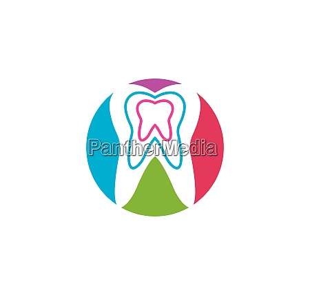 smile dental logo template vector illustration